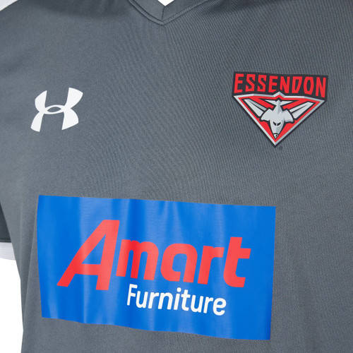 Essendon Bombers 2020 UA Mens Threadborne Training Tee  Grey