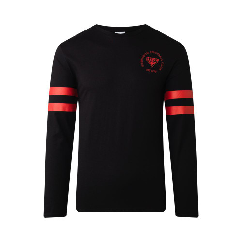 Essendon Bombers Mens Supporter Long Sleeve Tee