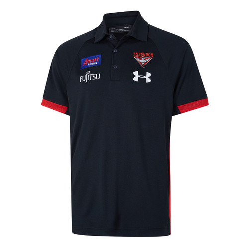 Essendon Bombers 2020 UA Mens Media Polo