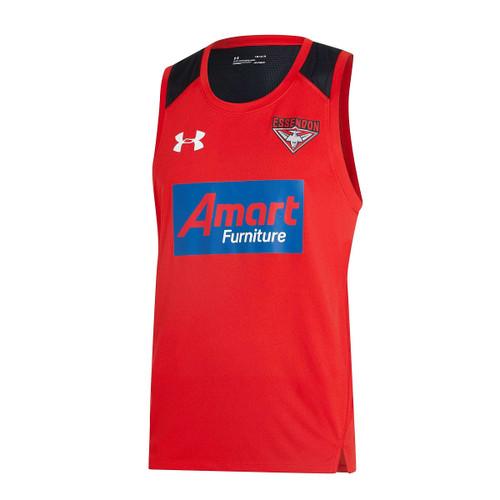 Essendon Bombers 2020 UA Mens Training Singlet  Red