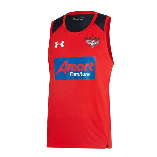 Essendon Bombers 2020 UA Womens Training Singlet - Red