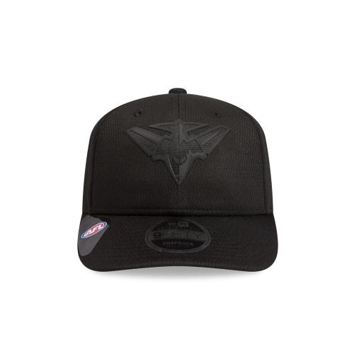 Essendon New Era Black on Black 9FIFTY Pre-Curved Snapback