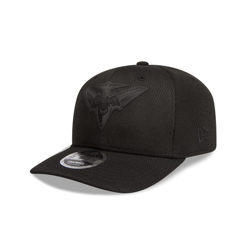 Essendon New Era Black on Black 9FIFTY Pre-Curved Snapback