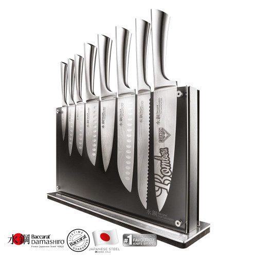 Essendon Baccarat Damashiro Nami 9-Piece Knife Block