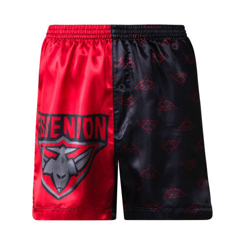 Essendon Kids Satin Boxer Shorts