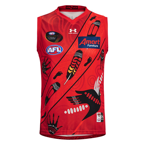 Essendon 2021 Under Armour Mens Dreamtime Guernsey