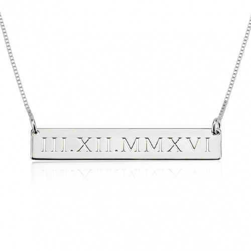 Personalised Anniversary Date Necklace