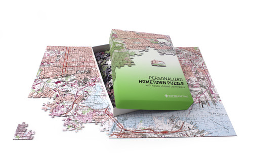 Personalised map of your home jigsaw puzzle