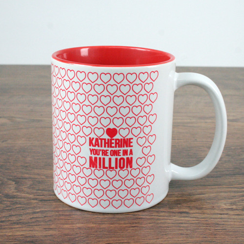 Personalised one in a million coffee mug