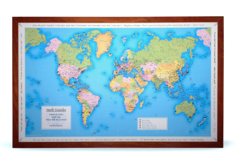 Personalised Wedding and Anniversary travel map