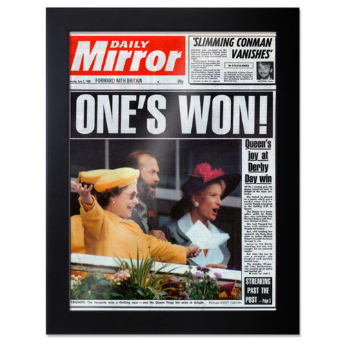 Framed front page newspaper from  your wedding day in 2011