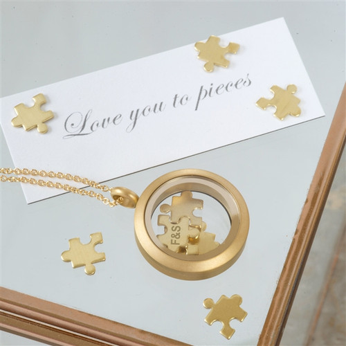 Personalised Love You To Pieces Necklace In Gold