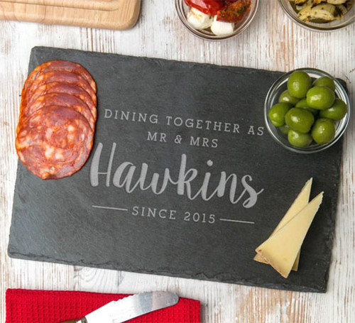 Personalised Dining Together Since Slate Board