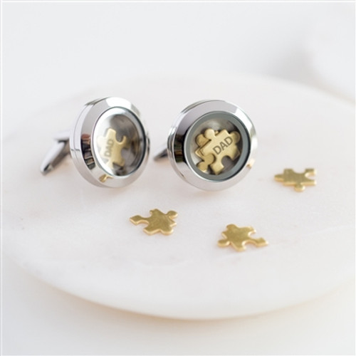 Personalised Love You To Pieces Brass Cufflinks