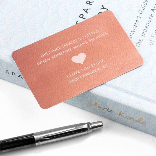 Personalised Copper Love Note