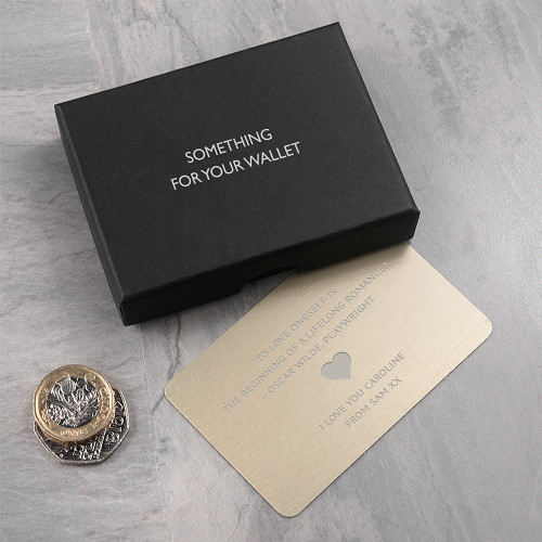 Personalised Gold Love Note