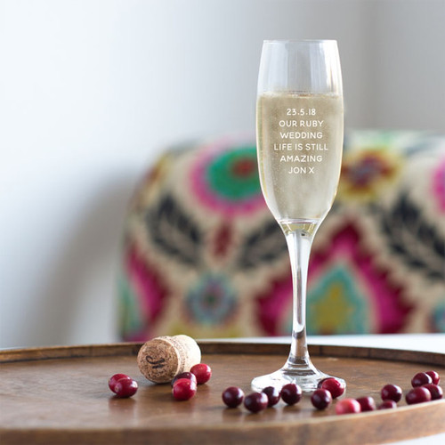 Personalized Wedding Anniversary Glasses with your date and your own message