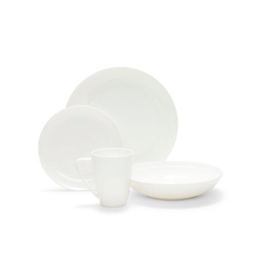 Edge 16 Pce Dinner Set - White