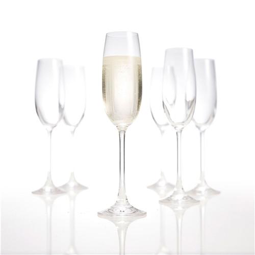 Set Of 6 Champagne Flutes