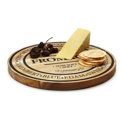 Fromage 28Cm Round Wooden Cheese Board