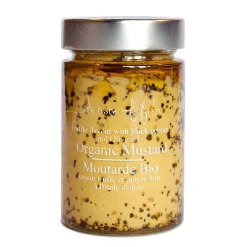 A Taste Of Paris Organic Mustard Truffle Flavour with Black Pepper