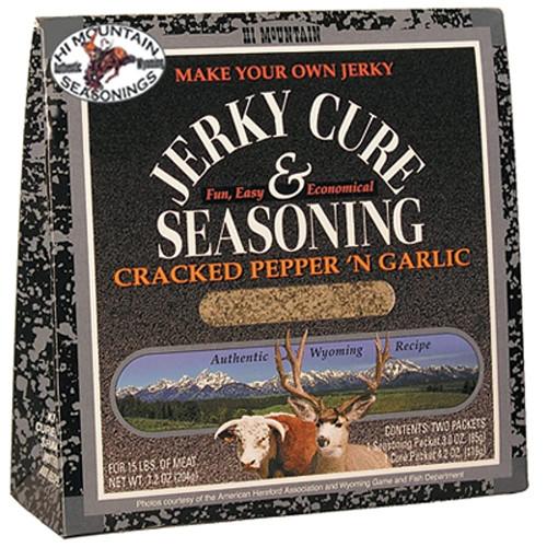 JERKY CURE SEASONING CRACKED PEPPER N GARLIC