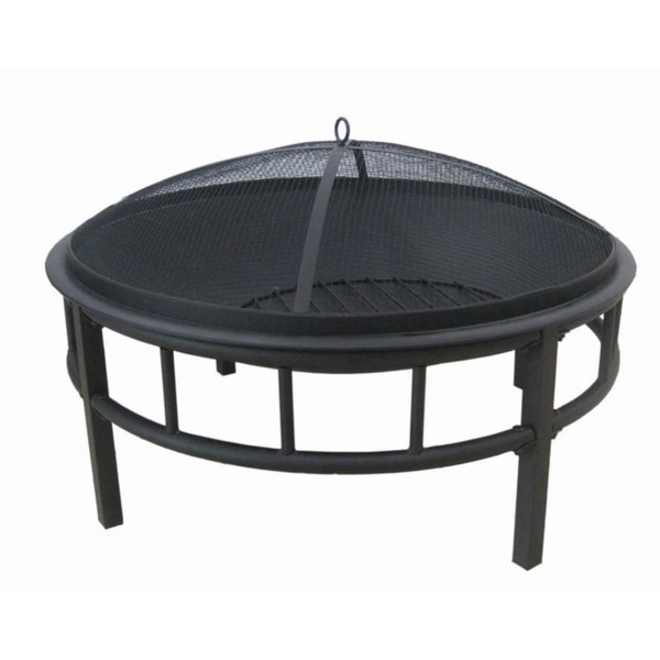 Firepit Round Black with Poker