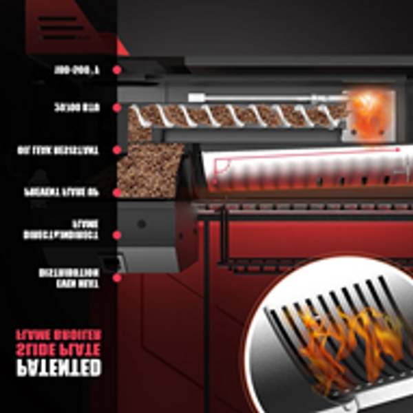 AS300 PORTABLE WOOD PELLET GRILL - APPLE RED