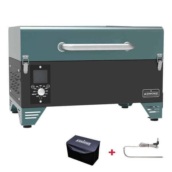AS300 PORTABLE WOOD PELLET GRILL - PINE GREEN