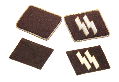SS Collar Tabs, Embroidered