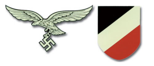 Luftwaffe Late German Helmet Decal
