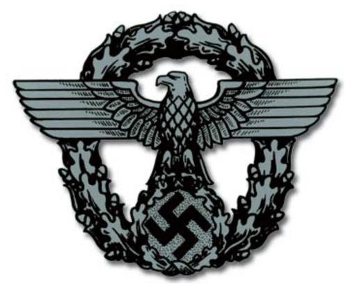 Police Eagle / Wreath German Helmet Decal