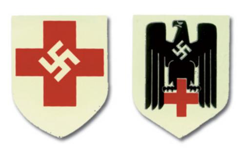 Red Cross German Helmet Decal