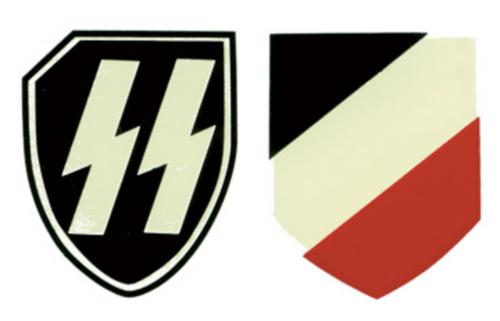 SS- LAH German Helmet Decal