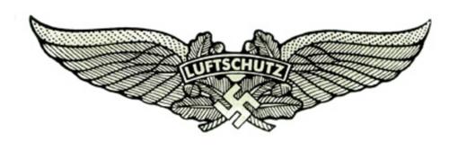 Luftschutz German Helmet Decal