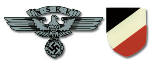 NSKK German Helmet Decal