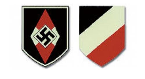 Hitler Youth German Helmet Decal - Dry Transfer