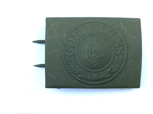 Army Heer Field Grey Belt Buckle