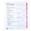 Premium Litigation Index Tab Dividers - Cover Sheet