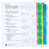 2-Ring Deluxe Litigation Notebook, Full View Index Tab Set