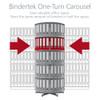 Moll One Turn Binder & File Carousel, 4-Tier Shelving