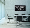 """Sigel Contemporary Magnetic Glass Board, 36"""" x 18"""", World Map"""