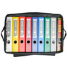 Soft Sided Binder Caddy, Heavy Duty Hand Truck and 2 Cases, Top View