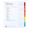 Premium Medical Records Index Tab Dividers, 20-Tab Set - Cover Sheet