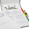 """Advantage TopFiles 2-Ring Binder for Top-Punched Paper, 3"""" Spine"""