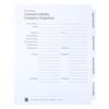 LLC Index Tab Dividers - Cover Sheet