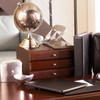 Stackable Wooden Desk Organizer Kit with Step-Up File & 2 Drawers - Drawers on Desk