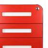 Glide 3-Drawer Mobile File Cabinet. Keyhole