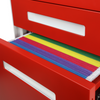 Glide 3-Drawer Mobile File Cabinet, Files in Drawer