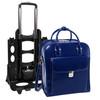 """La Grange Leather Briefcase, Detachable Wheels, Fits 15"""" Laptop"""